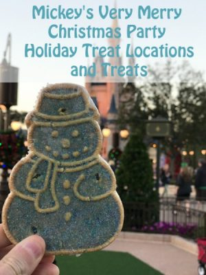 Mickey's Very Merry Christmas Party Treat Locations