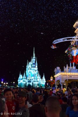 Castle from Main Street at Christmas