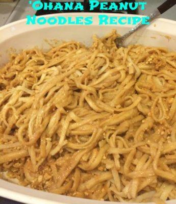 'Ohana Peanut Noodle Recipe