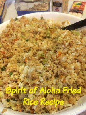 Walt Disney World recipe for Spirit of Aloha Fried Rice