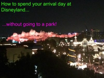 Arrival Day at Disneyland Tips