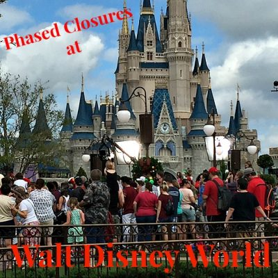 Phased Closures at Walt Disney World