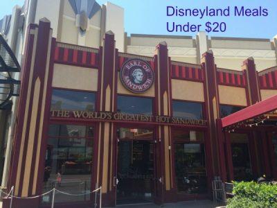 Disneyland meals Under $20