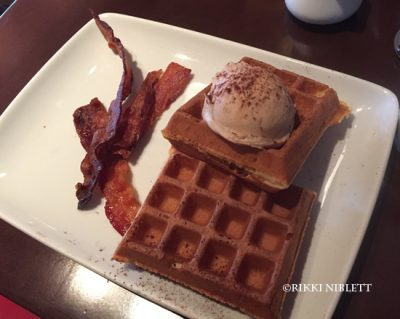 Espresso Marscarpone Waffles
