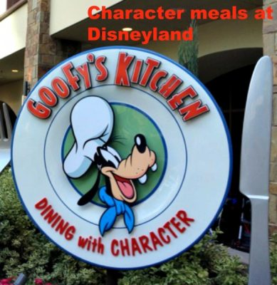 character meals at Disneyland Resort