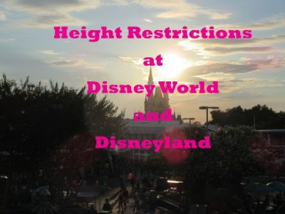 Walt Disney World and Disneyland height restrictions