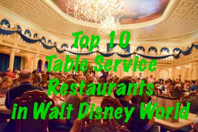Top 10 Table Service Restaurants at Walt Disney World
