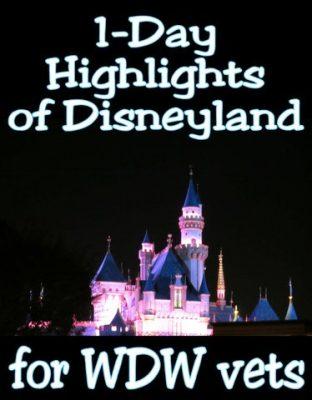 One-day highlights of Disneyland for Walt Disney World veterans