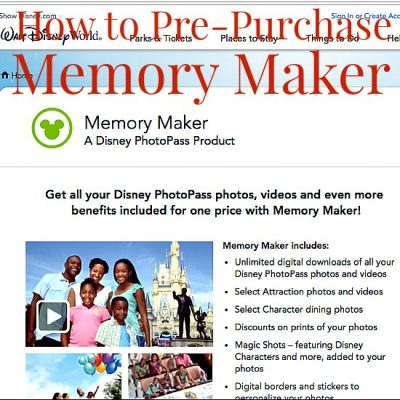 How to Pre-Purchase Memory Maker