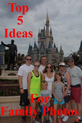 Top 5 Ideas for Getting family photos at Walt Disney World