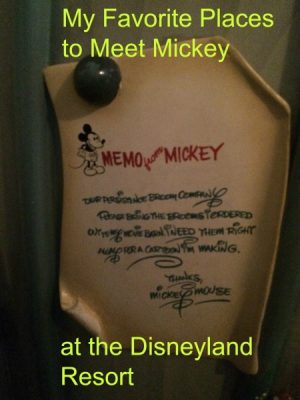 Meet Mickey Mouse at Disneyland