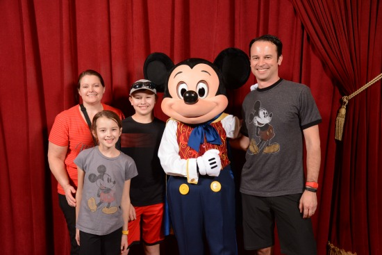 Mickey Poses with Families