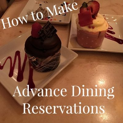 How to Make Advance Dining Reservations