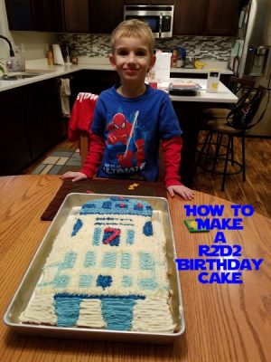 How to make an R2D2 Cake
