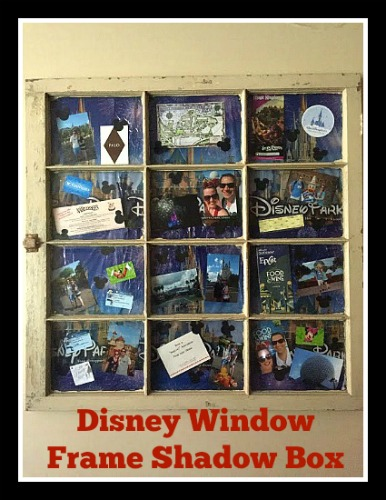 Disney Window Frame Shadow Box