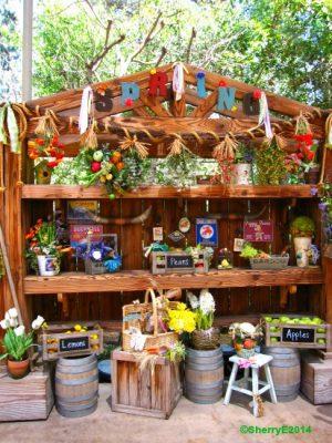 Springtime Roundup Display Shelf