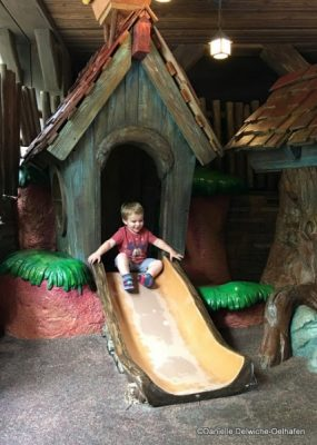Toddler Enjoying the Laughin' Place Outside of Splash Mountain