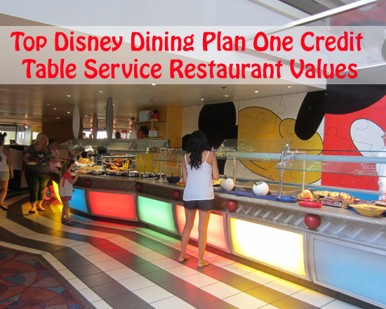 Foo Friday Top 7 Disney Dining Plan One Credit Table Service Restaurant Values