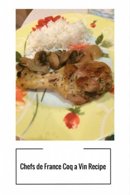 Recipe of Coq a Vin from Chefs de France