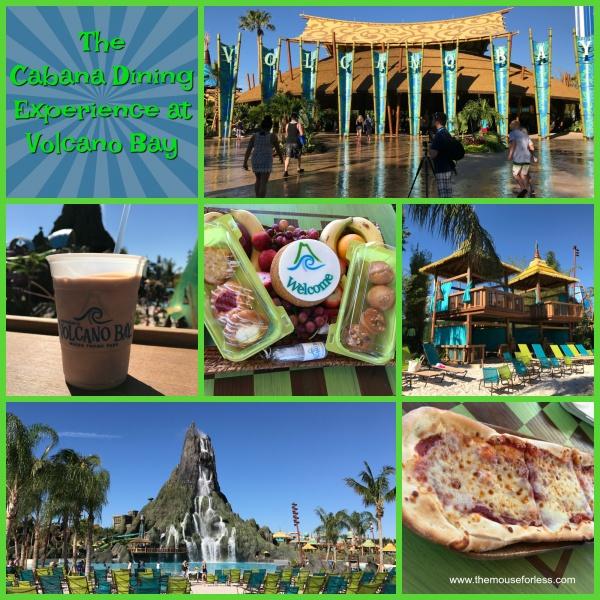 The Cabana Dining Experience at Universal Orlando Resort's Volcano Bay