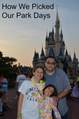 How We Picked Our Walt Disney World Park Days