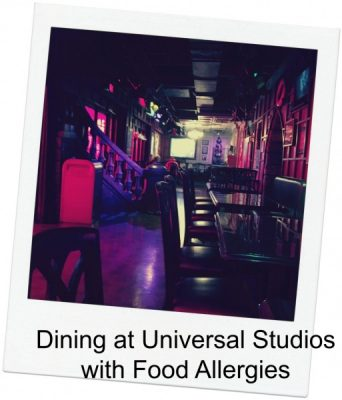 Universal Orlando with food allergies