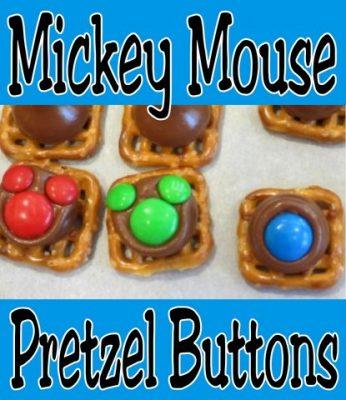 Mickey Mouse pretzel buttons