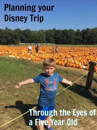 Planning your Walt Disney World Vacation, Through the Eyes of a Five Year Old