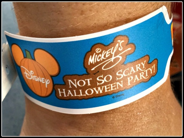 Mickey's Not-So-Scary Halloween Party wristband