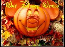 Mickey fall pumpkin decoration
