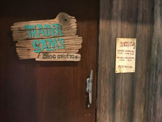 Trader Sam's Grog Grotto Door Dining at Disney's Polynesian Resort