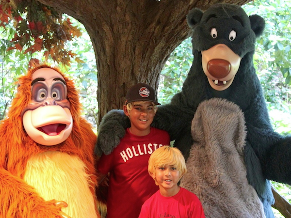 Walt disney world character meet and greet tips many disney characters are quite large some like winnie the pooh tiger king louie baloo and genie are huge others such as maleficent cruella de vil m4hsunfo