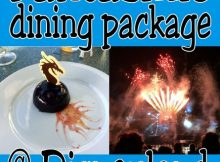 Fantasmic dining package at Disneyland