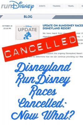 Disneyland Races Cancelled