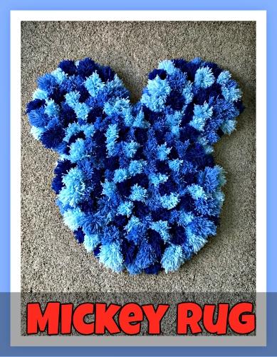 How To Make A Mickey Head Pom Pom Rug Disney