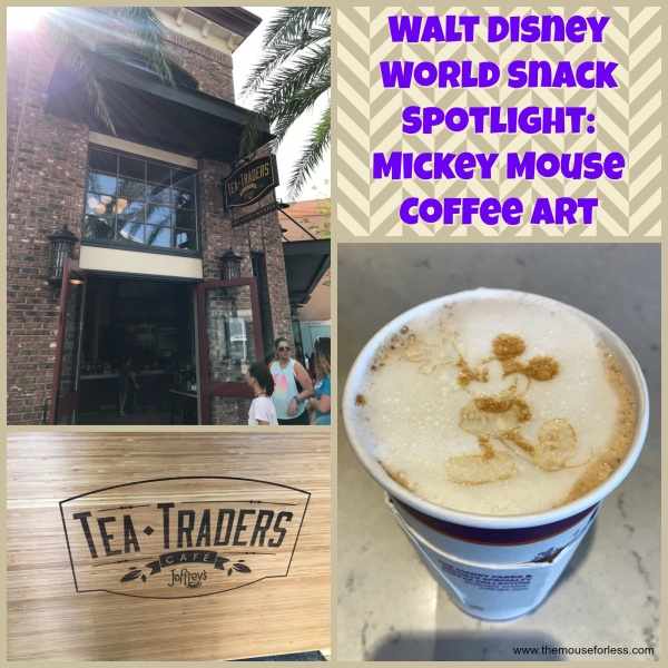 Mickey Mouse Coffee Art at Joffrey's Tea Traders