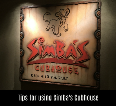 Discount while dining at Animal Kingdom Lodge at Simba's Cubhouse