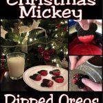Christmas Mickey dipped Oreos