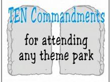 Ten theme park commandments