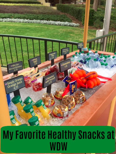 Healthy snack options at Walt Disney World