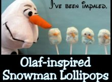 Olaf snowman lollipops