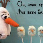 Olaf snowman lollipops