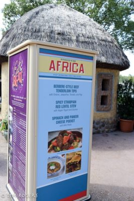 Food and Wine Africa Menu