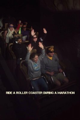 Ride Expedition Everest during the race