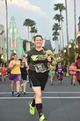 Star Wars Darkside 10k PhotoPass picture during the race