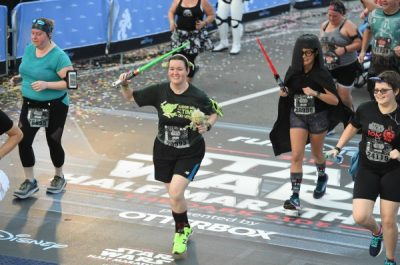 Star Wars Darkside 10k Finish Line Photo