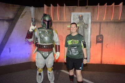 Star Wars Darkside 10k pre-race with Boba Fett