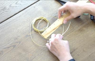 DIY Mickey Wire Ears Measuring