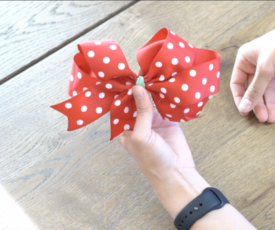 DIY Mickey Wire Ears Double Bow With Rubber band