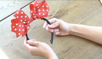 DIY Mickey Wire Ears Finished Ears